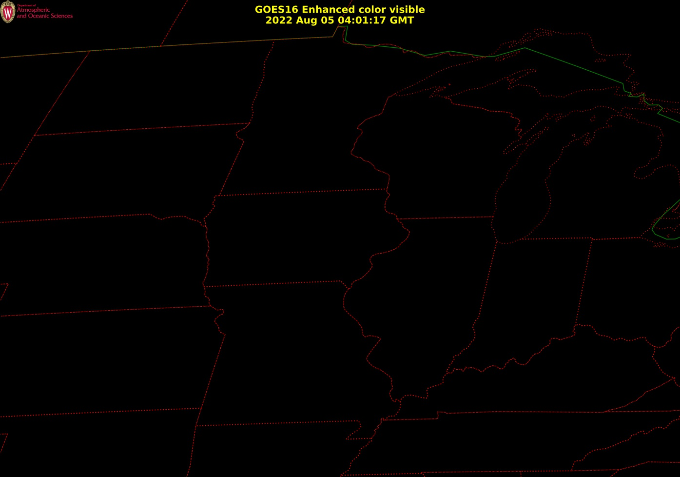 Visible Satellite - Midwest Current